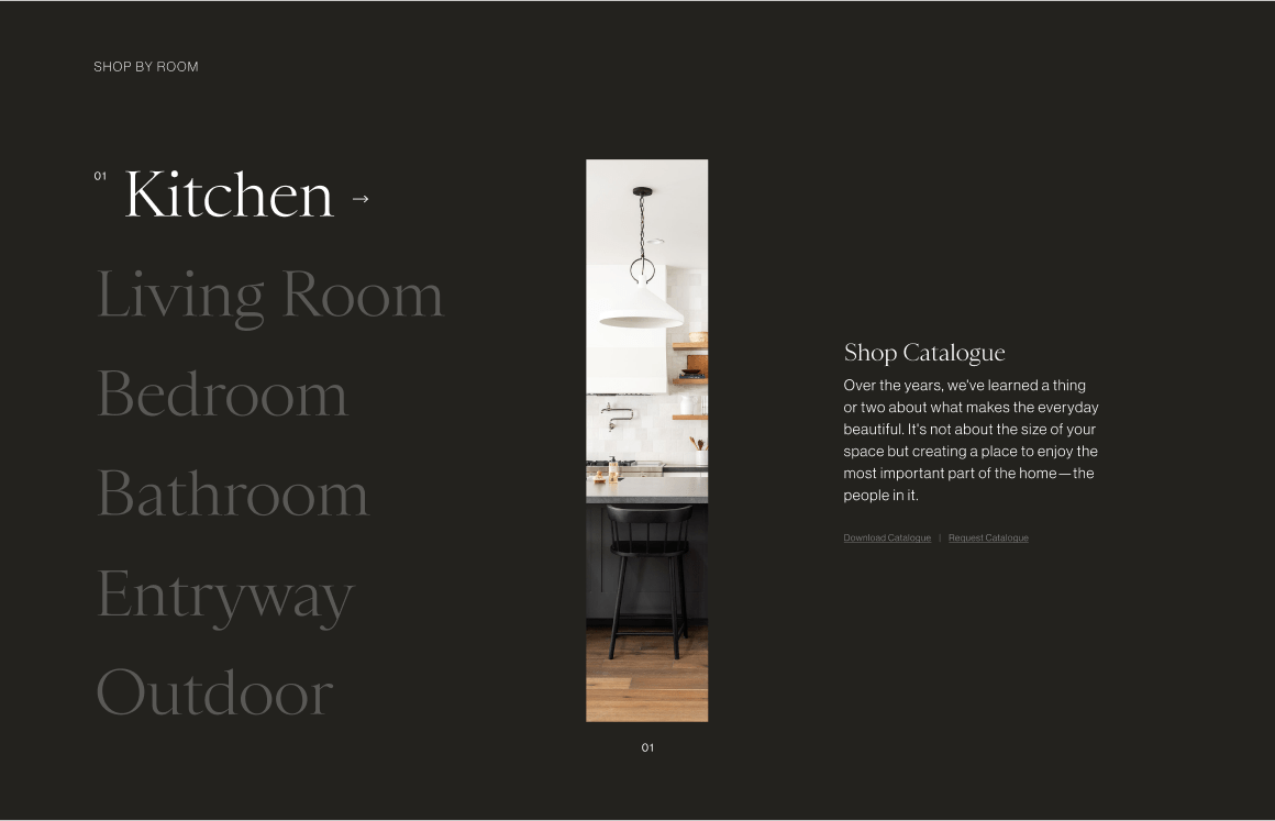 McGee & Co. Shop By Room Concept