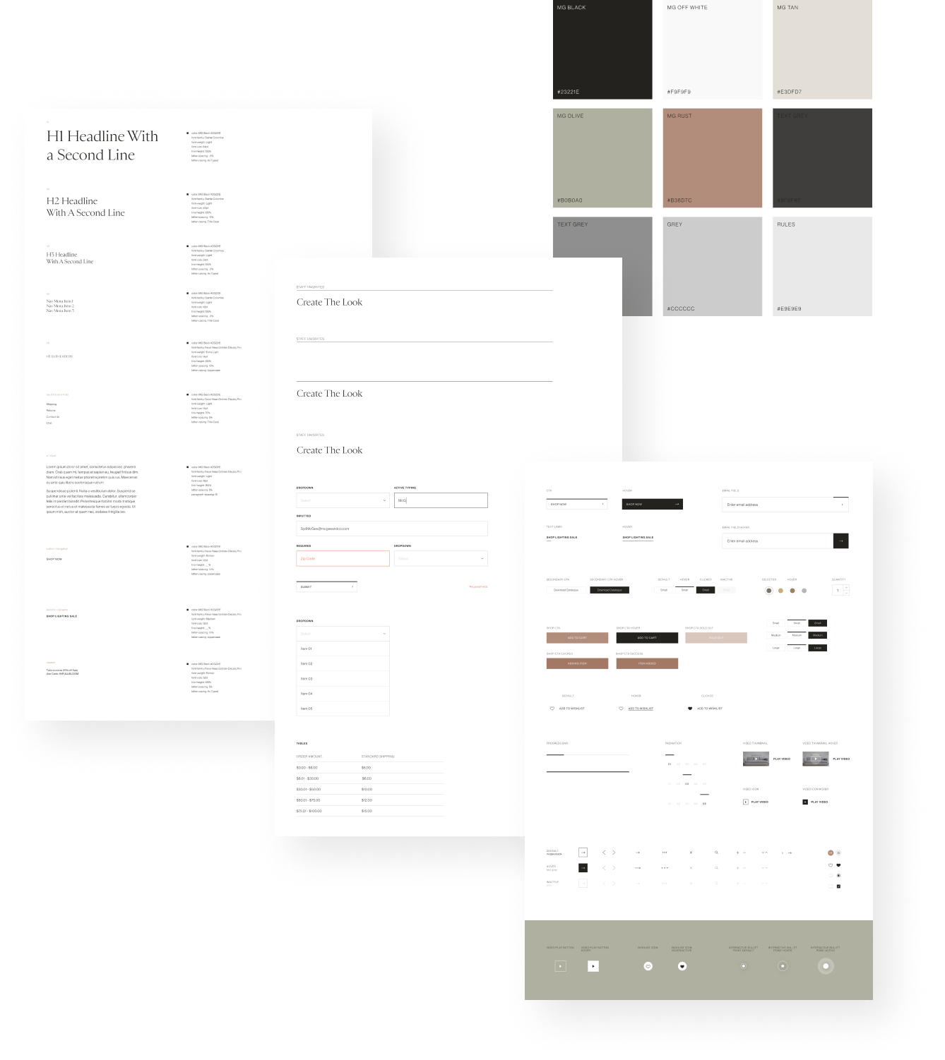 McGee & Co. Styleguide